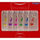 Sanlead Martell-Bottle PC With Rubber And Sand Liquid Back Case For Iphone5,5S,5C(Assorted Colors)