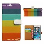 dessin colorié ou un motif de bonne qualité PU cas de cuir flip téléphone mobile étui pour iPhone5 / 5s