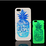 Pineapple Pattern Glow in the Dark Hard Plastic Back Cover for iPhone 5 for iPhone 5s Case