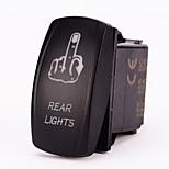 Iztoss 5pin Laser FINGER REAR LIGHTS Rocker Switch ON-OFF LED Light 20A 12V