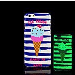roomijspatroon glow in the dark hard plastic achterkant voor de iPhone 6 voor iPhone 6s case