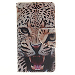 The Ferocious Jaguar Design PU Material Cell Phone Case Cover For WIKO Sunset 2