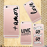 MAYCARI®Love Quotations Soft Transparent TPU Back Case for iPhone 6 Plus/6S Plus(Assorted Colors)