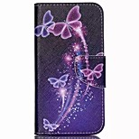 Colored Butterflies Painted PU Phone Case for Wiko Rainbow Up