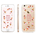 Strawberry Ice Cream  Pattern Transparent TPU Material Phone Case for iPhone 6/ 6S