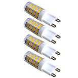 4pcs Kakanuo LED G9 Light 3.5W 51X2835SMD 300-320lm Warm White Decorative Bi-pin Lights AC220-240V
