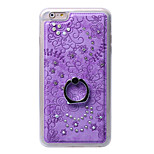 Diamond Soft TPU Cover Case Back With Mobile Phone Ring Bracket Mobile Phone Shell For iphone 6 Plus/6S Plus