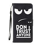 no confían en nadie patrón de cuero de la PU caso de cuerpo completo con soporte para 6s iphone plus