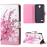 Plum Blossom  Magnetic PU Leather wallet Flip Stand Cover Case For Huawei Ascend Y5/y560