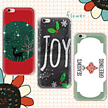 MAYCARI®Happy Christmas Day Soft Transparent TPU Back Case for iPhone 6/iphone 6S(Assorted Colors)