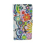 Rainbow Flower Pattern Flip Leather Case For iPhone 6/6S Cover Bags