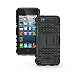 TPU+ PC Hybrid Rugged Rubber Armor stand Hard Cover Cases For iPod Touch 5