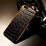 Luxury Retro Crocodile Grain PU Leather+Plating PC Golden Brand mobile phone skin case Cover For iPhone 6/6S