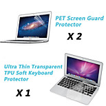 Ultra Thin Transparent TPU Soft Keyboard Protector Cover + Protective Clear Screen Guard for 11.6