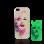 Marilyn Monroe patroon glow in the dark hard plastic achterkant van de iPhone 5 voor iPhone 5s case