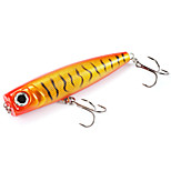 Mizugiwa Top Water Popper Fishing Lure Surface Hard Bait lures Bass Walleye Crappie 40g 125mm Color Gold