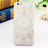 Black and White Style Flower-Fence 2-Times Printed TPU Soft Back Cover for iPhone 6/6S