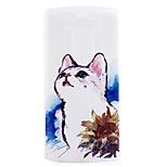 Kitty Embossment Dull Polish Frame + Transparent TPU Soft Phone Case for LG G3/G4