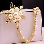 New Arrival Fashion Jewelry Popular Pearl Flower Broo