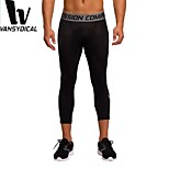 Vansydical Men's Quick Dry Fitness Bottoms Green / Gray / Black