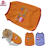 Dog Costumes / T-Shirt - XS / S / M / L - Summer - Purple / Orange - Wedding / Cosplay / Birthday / Holiday / Fashion - Cotton
