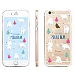 Polar Bear Pattern Transparent TPU Material Phone Case for iPhone 6/ 6S