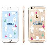 polare modello dell'orso cassa del telefono di tpu materiale trasparente per il iphone 6 / 6s