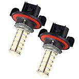 2pcs voiture h13 ampoule de phare de brouillard 3528SMD blanc 68 LED Light 12v