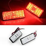 2x auto auto ajoneuvo punainen neliö jarru seis häntää takavalon lampun suuri teho