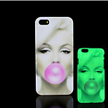 Marilyn Monroe Pattern Glow in the Dark Hard Plastic Back Cover for iPhone 5 for iPhone 5s Case