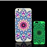 aztec Mandalamuster im Dunkeln leuchten Hartplastikhülle für iPhone 6 für iphone 6s Fall