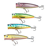 Mizugiwa Top Water Popper Fishing Lure Surface Hard Bait lures Bass Walleye Crappie 40g 110mm pack of 4
