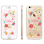 Chrysanthemum Flower  Pattern Transparent TPU Material Phone Case for iPhone 6/ 6S
