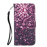 Purple Petals Pattern PU Leather Full Body Case with Stand for iPhone 6S