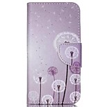 Purple Dandelion Painted PU Phone Case for Wiko Rainbow Up