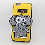 Size Eye Elephant PC With A Fluffy Back Case For Iphone 6/6S