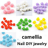 100pcs Mixing Nail DIY Camellia Jewelry Nail Tools Random Color