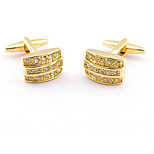 Square Crystal Gold Silver Men's Cuff Links Mens Wedding Party Gift Cufflinks