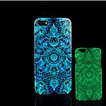 azteco bagliore modello di fiori sulla cover posteriore in plastica dura scuro per iphone 5 per caso iphone 5s