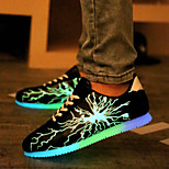 Men's Fluorescent LED Shoes USB charging Casual Fashion Sneakers Black / Gray / Gold
