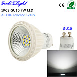 YouOKLight® 1PCS GU10 7W 600lm 9-2835SMD 6000K LED Spotlight AC110-120V/220V-240V-High quality&Higher cooling efficiency
