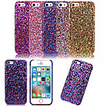 KARZEA™Luxury Sparkle Pattern PU Stick A Skin PC Back Cover Case for iPhone 5/5S (Assorted Colors)