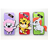 Sheep/Tiger/Horse PC With A Fluffy Back Case For Iphone 6/6S