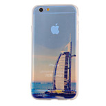 The New Dubai Landmarks Tower Landscape Pattern Translucent TPU Material Combo Phone Case for iPhone 6/ 6S