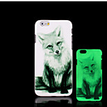 Fox Pattern Glow in the Dark Hard Plastic Back Cover for iPhone 6 for iPhone 6s Case