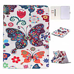 Butterfly Coloured Drawing or Pattern and TPU Textile Cloth Card Slot Stents The Cladding For Apple iPad Air