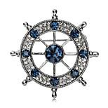 New Arrival Fashion Jewelry Retro Popular Rhinestone Anchors Brooch