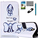 COCO FUN® Elephant Pattern PU Leather Case Cable Flim and Stylus for Samsung Galaxy S4 MINI/S4/S5/S5 MINI/S6/S6 EDGE