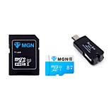 mgn original de la clase 10 8gb microsdhc tarjeta de memoria flash tf con el adaptador SDHC SD y USB&OTG dos en un lector de tarjetas