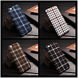Classic England Grid Pattern Fabrics Hard Case For Apple iPhone 6 / 6S (Assorted Color)